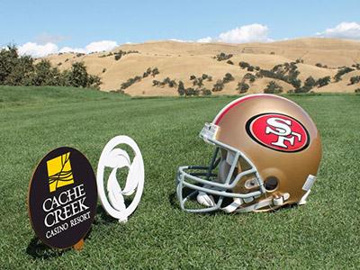 San Francisco 49ers and Cache Creek Casino Resort Partnership